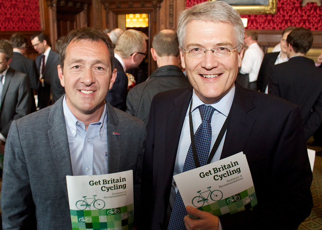 Andrew Jones MP with Chris Boardman