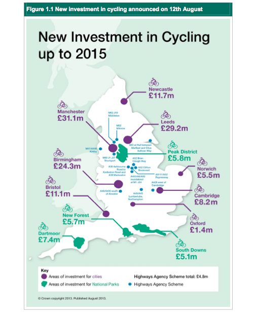 Cycle city ambition grants map