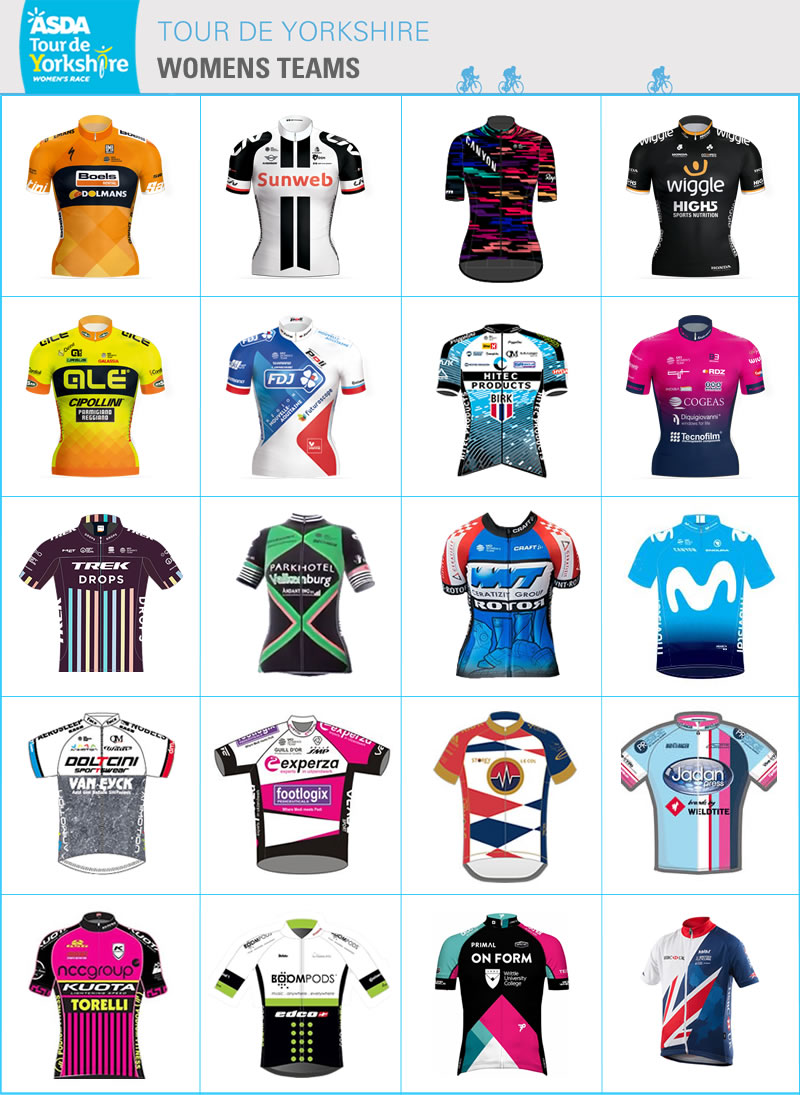 TDY 2018 women's teams