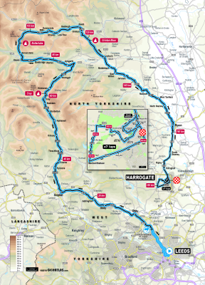 Route of elite men's road race, UCI road World Championships 2019