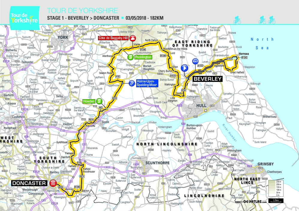 Stage 1 Tour de Yorkshire 2018 Beverley to Doncaster