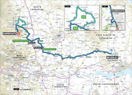 UCI 2019 para-cycling race route map