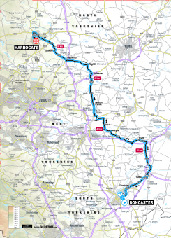 UCI 2019 Yorkshire Worlds junior women's road race route map