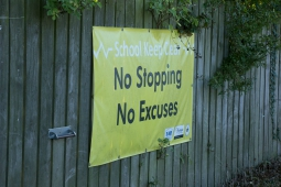 No Stopping sign outside a schools