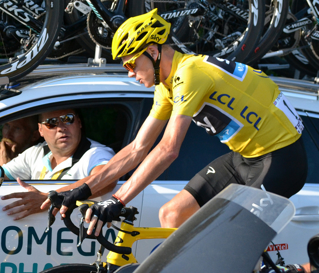 Chris Froome during the 2013 Tour de France