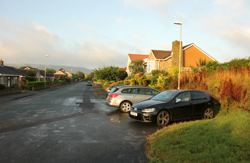 Parking bay on Lancaster Way, Scalby