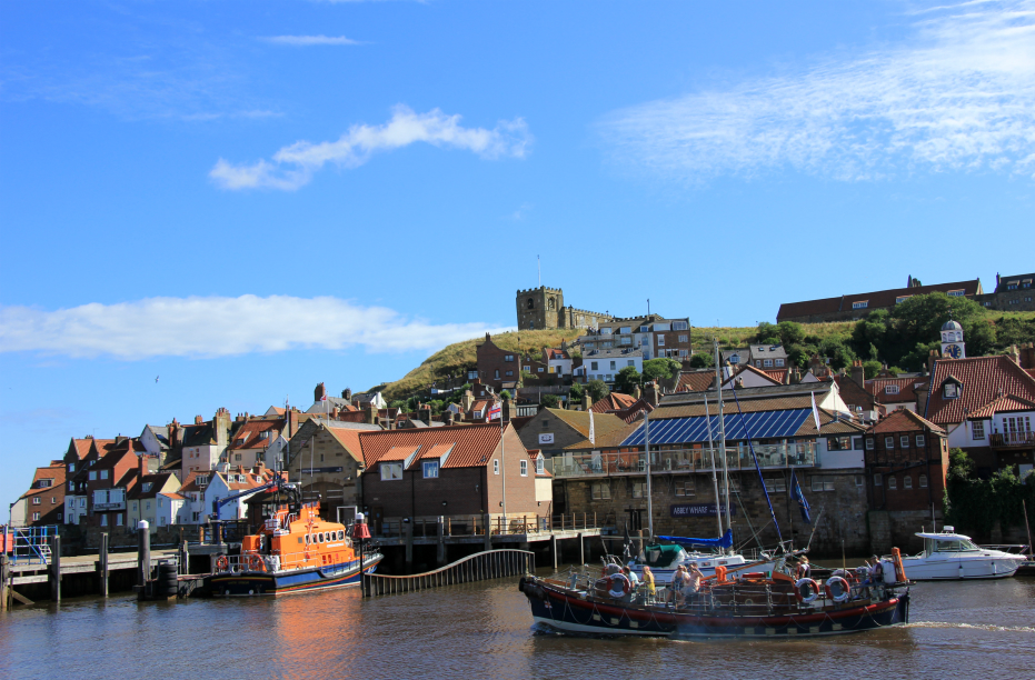 Whitby Harbour and church