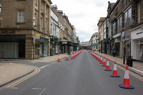Coronavirus pavement-widening measures Harrogate