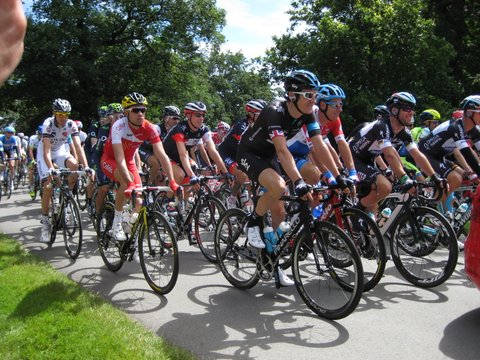 Tour de France riders arrive at Harewood