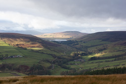 View of upper Nidderdale and Scarhouse reservoir