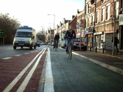 Cycle lane, Manchester