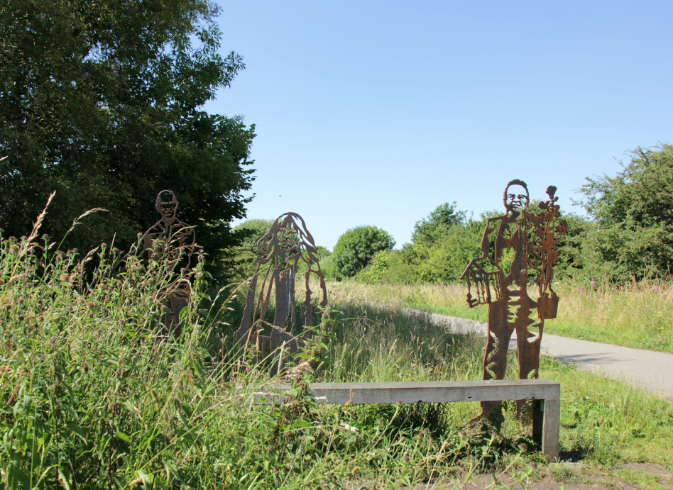 Portrait bench on the Nidderdale Greenway