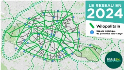 Paris cycle network 2024