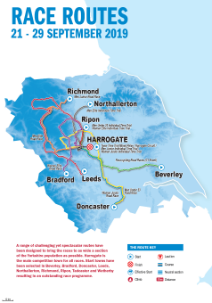 UCI 2019 Yorkshire Worlds map of all routes
