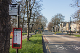 Bus stop on West Park, Harrogate