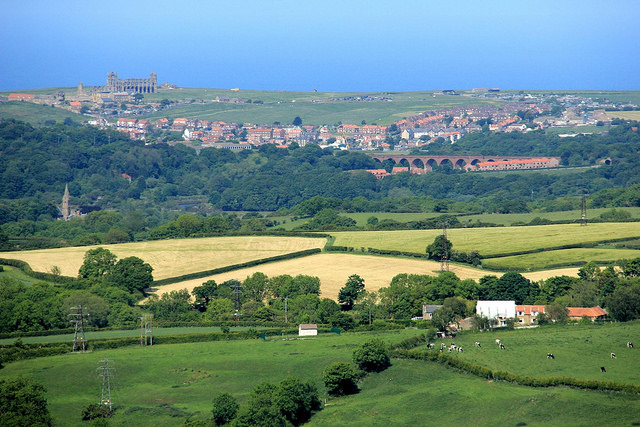 View of Whitby from the A169
