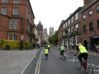 Closed road cycling in York